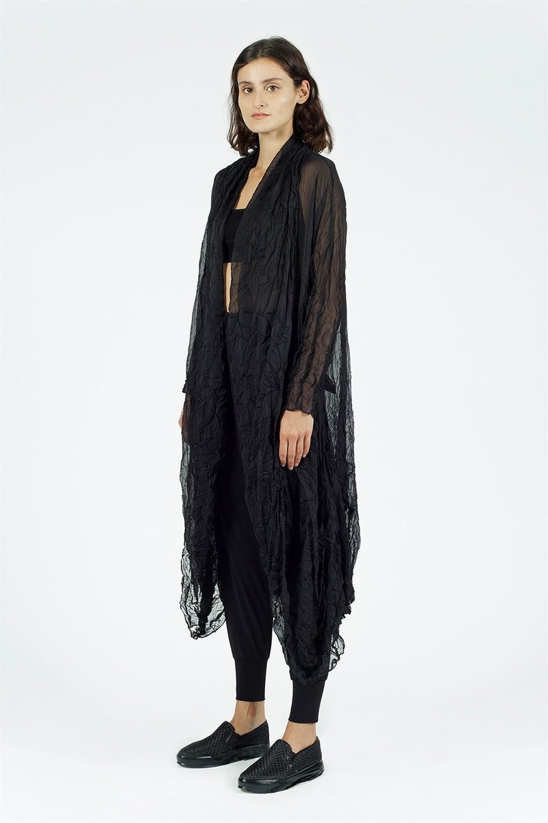 Nu Long Sleeve Open Front Outerwear Black