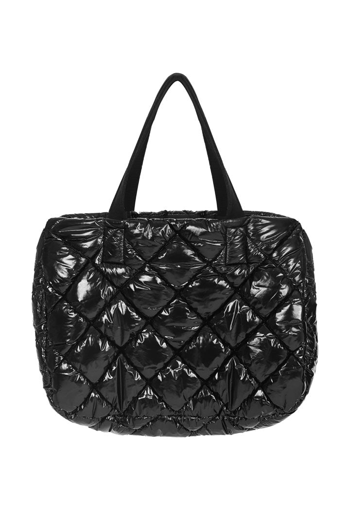 Nu Quilted Satchel Bag Black