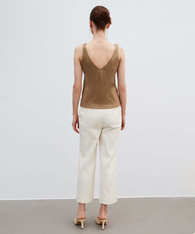 Ipekyol Sleeveless Relaxed Fit T-Shirt Natural