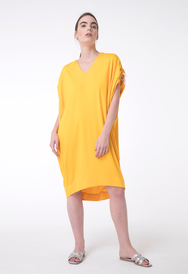 Exquise Dress Short V-Neck Yellow