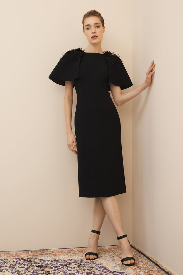 NIHAN PEKER ANGEL DRESS  BLACK