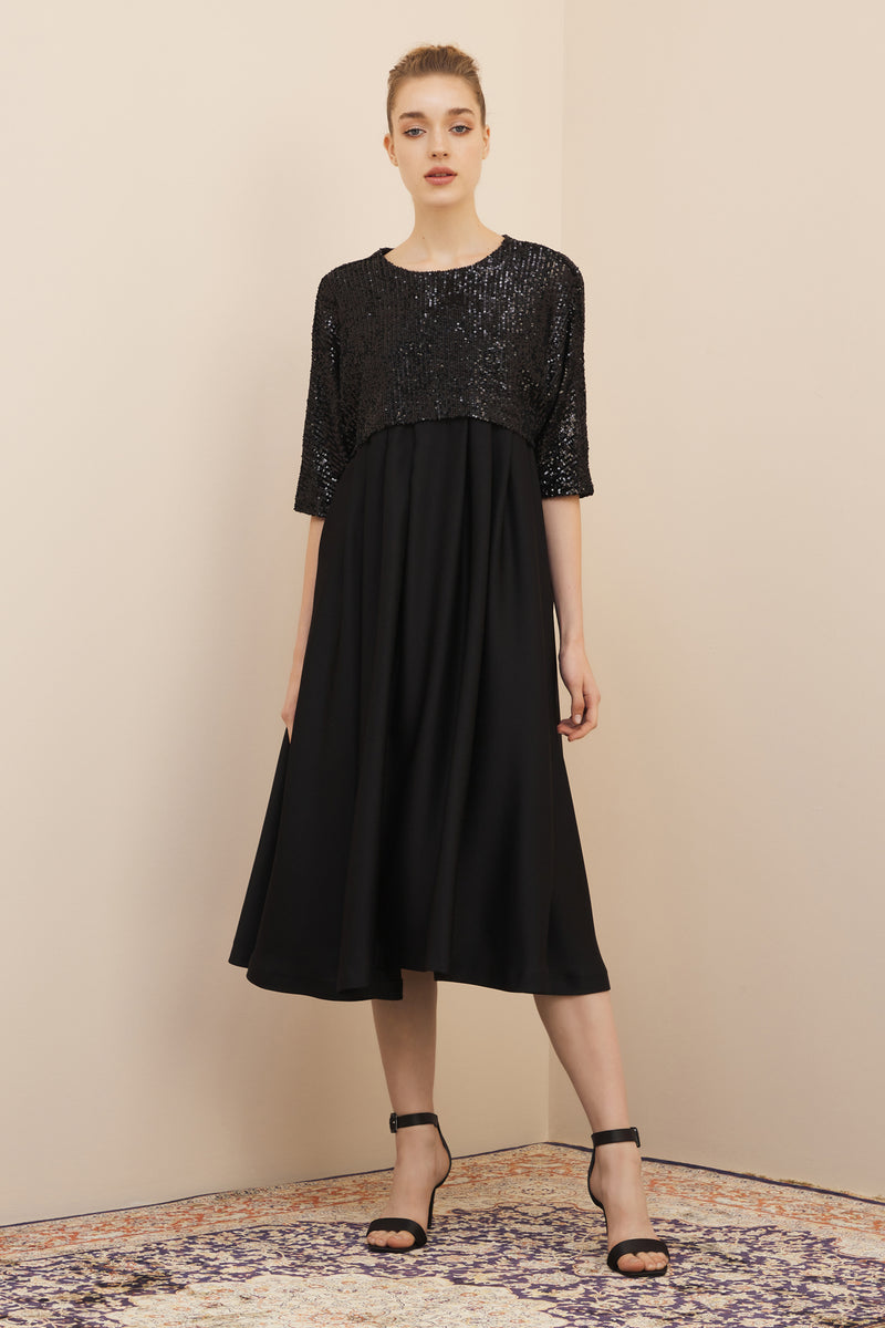 NIHAN PEKER JANA DRESS  BLACK