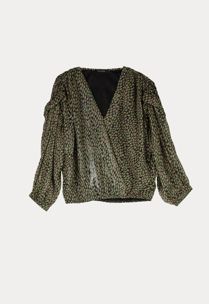 Nocturne Blouse print Green