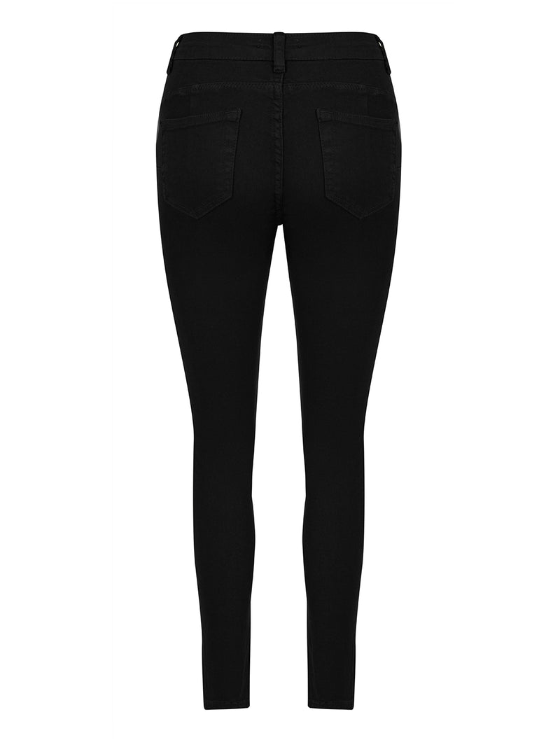 Nocturne Denim High Waist Skinny Trouser Black