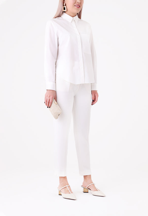 Choice White Poplin Shirt  White