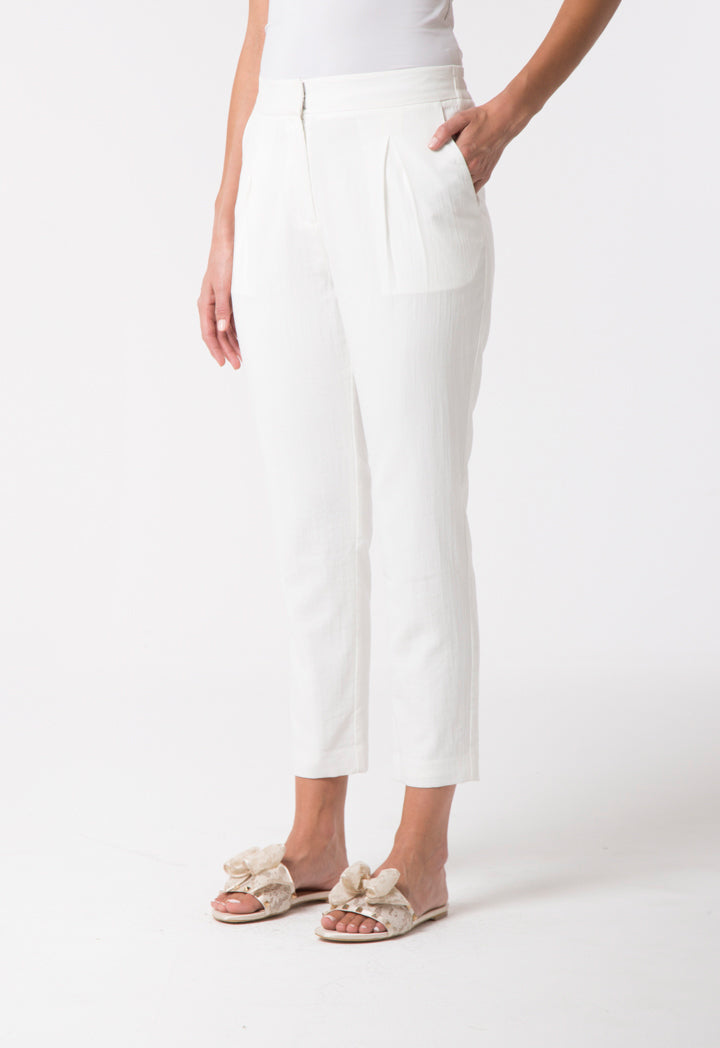 Choice Textured Casual Trouser Offwhite