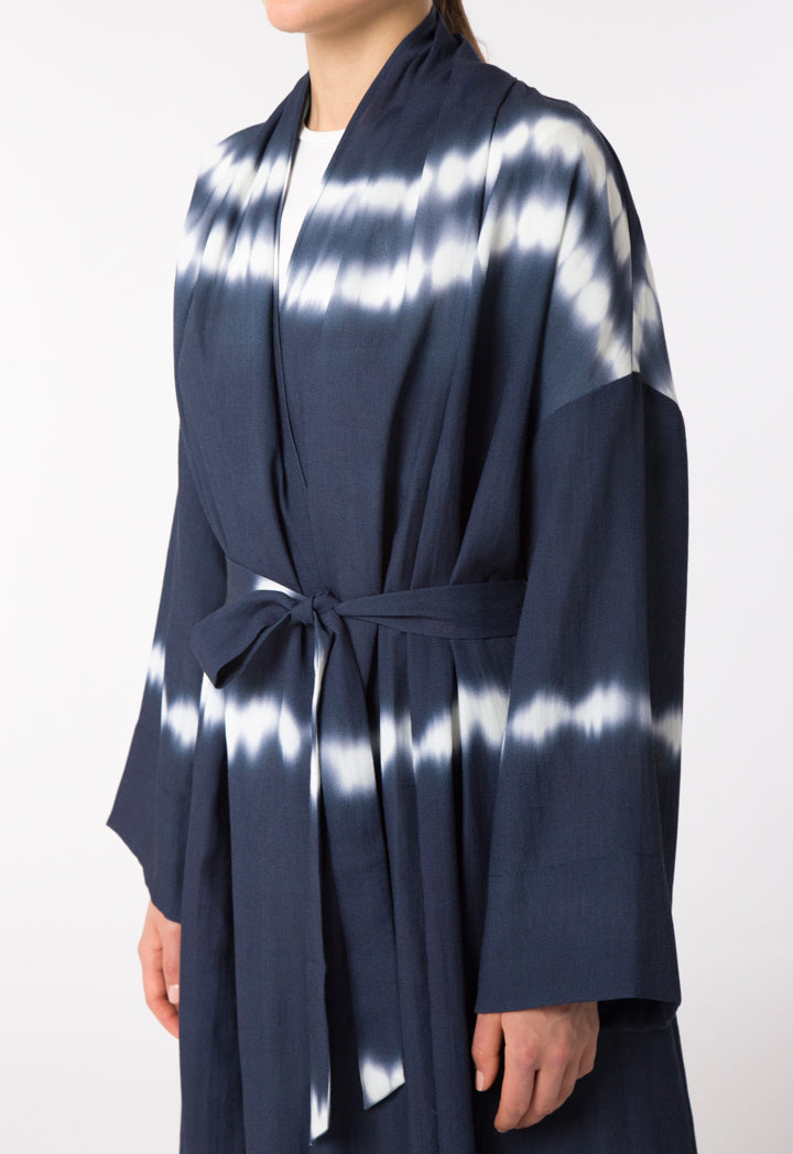 Choice Tie Dye Patterned Outerwear Navy