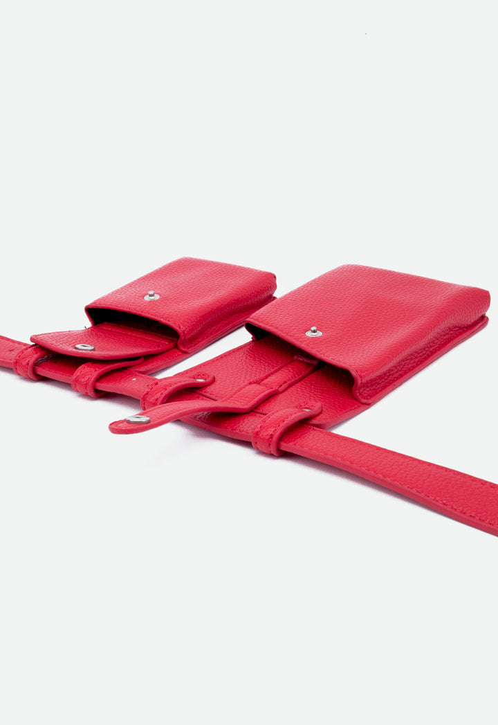 Choice Double Pocket Belt Bag Red