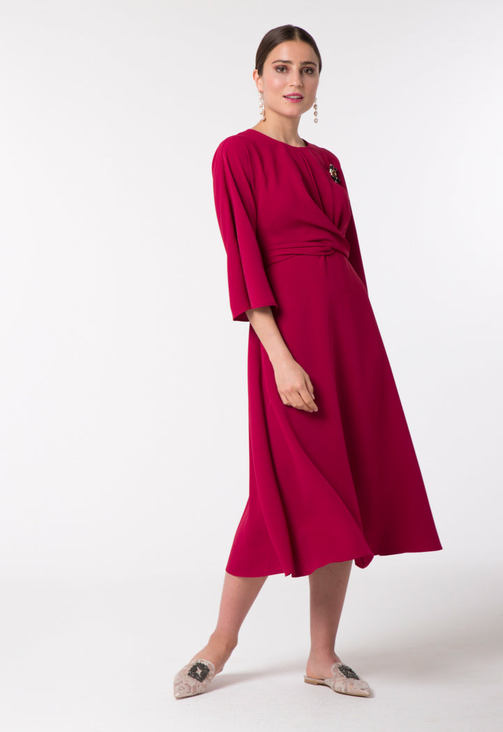 Choice Twisted Waist Dress Magenta