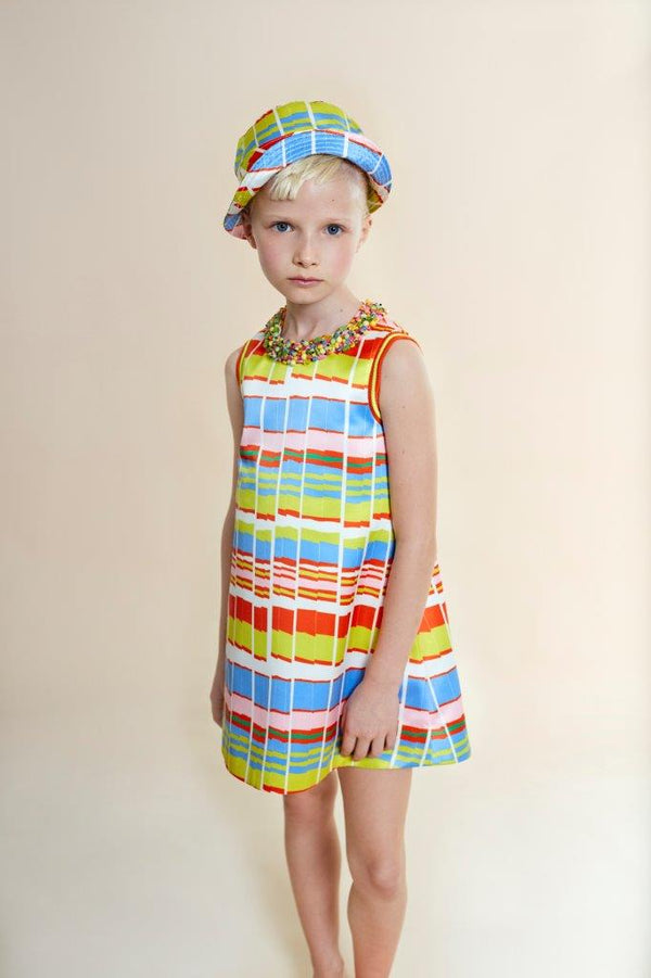Mimisol Stripe Print Dress Multicolor