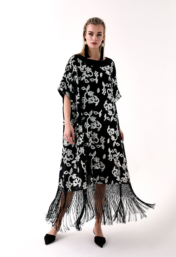 Choice Sequins Embroidery Dress Black - Wardrobe Fashion