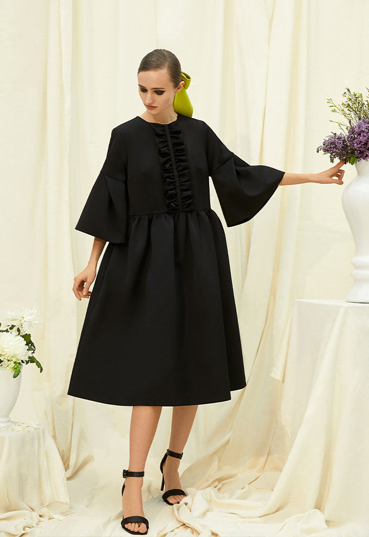 Choice Wide Sleeves Dress Black