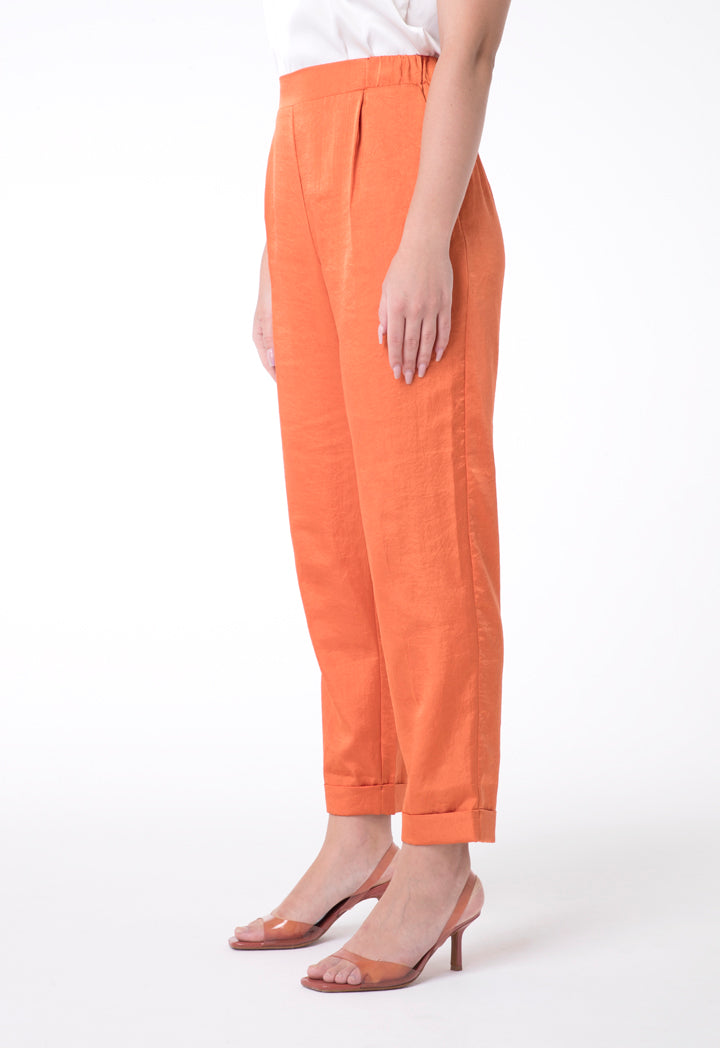 BERRIN Plain High Waist Trouser ORANGE