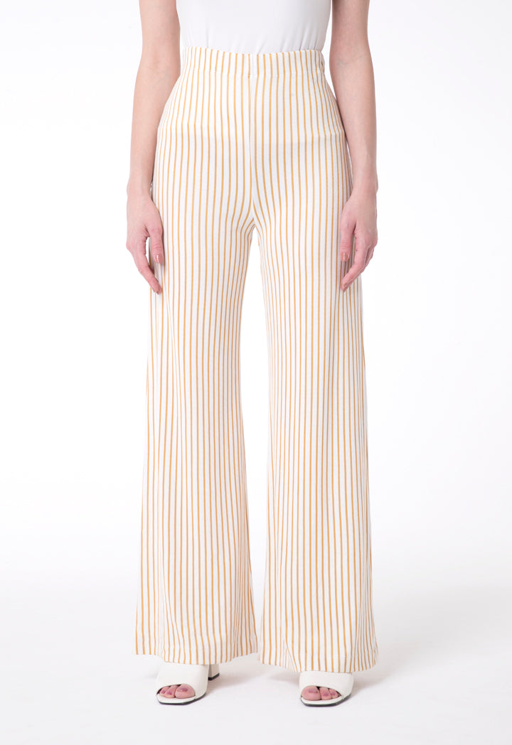 BERRIN Striped Knit Trouser ECRU