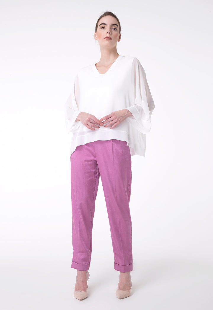 BERRIN Plain High Waist Trouser PINK