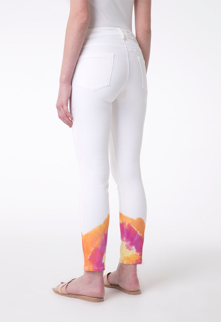 Brax Denim Printed Skinny Trouser Off White