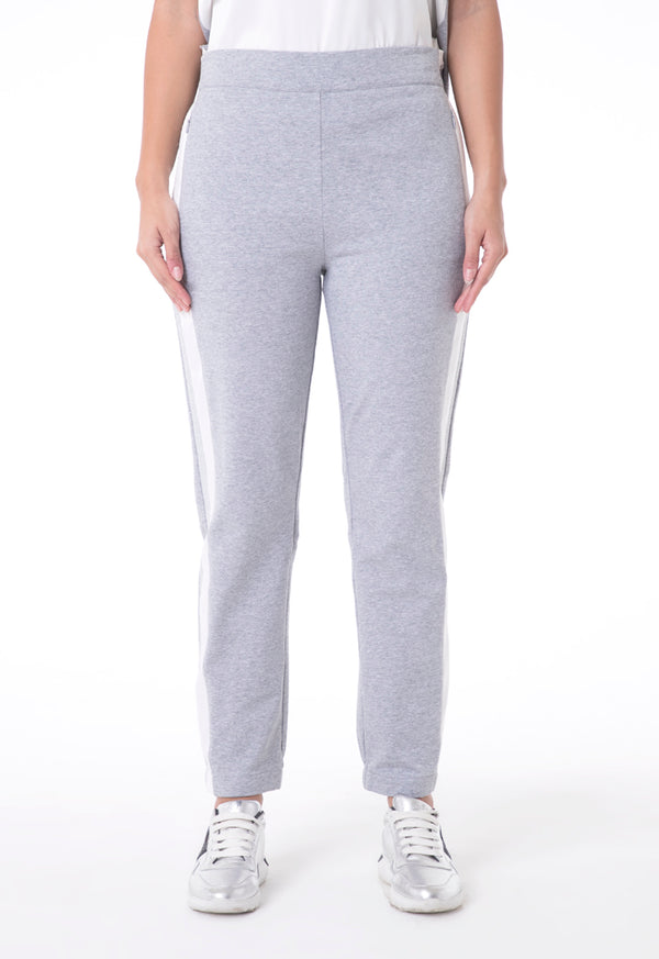 Choice Pants With Shimmering Side Tapes Grey
