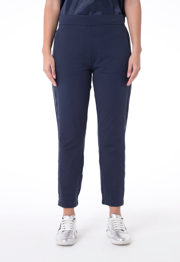 Choice Shimmered Side Tapes Pants  Navy