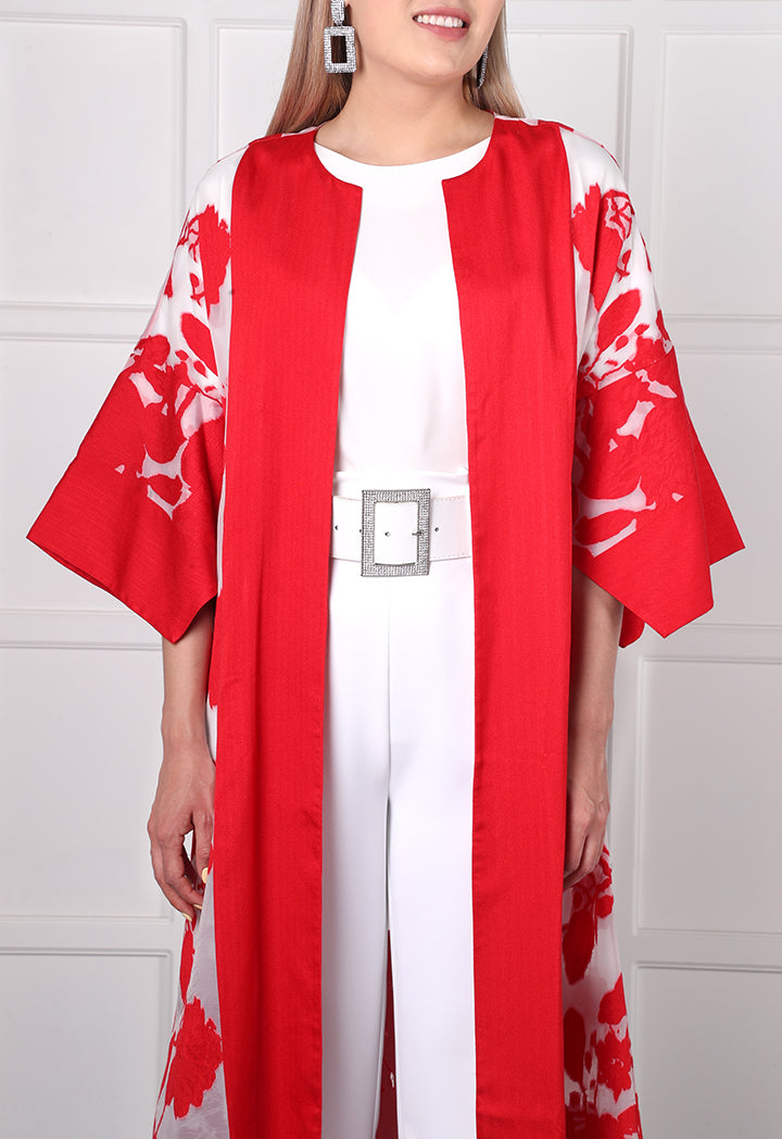 Choice Floral Burnout Kimono