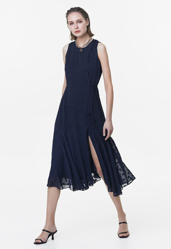 Ipekyol Dress Lace N/Sl Navy Blue - Wardrobe Fashion