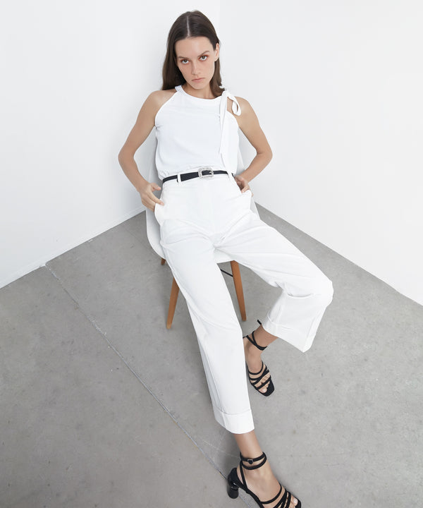 Ipekyol Trouser Off White - Wardrobe Fashion