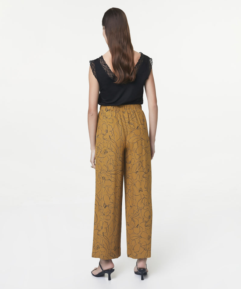 Ipekyol Trouser Printed Mustard - Wardrobe Fashion