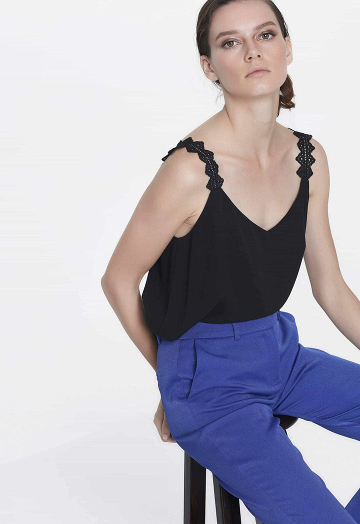 Ipekyol Blouse Top N/Sl Black - Wardrobe Fashion