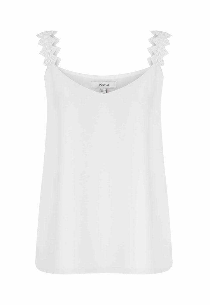 Ipekyol Blouse Top N/Sl Off White - Wardrobe Fashion