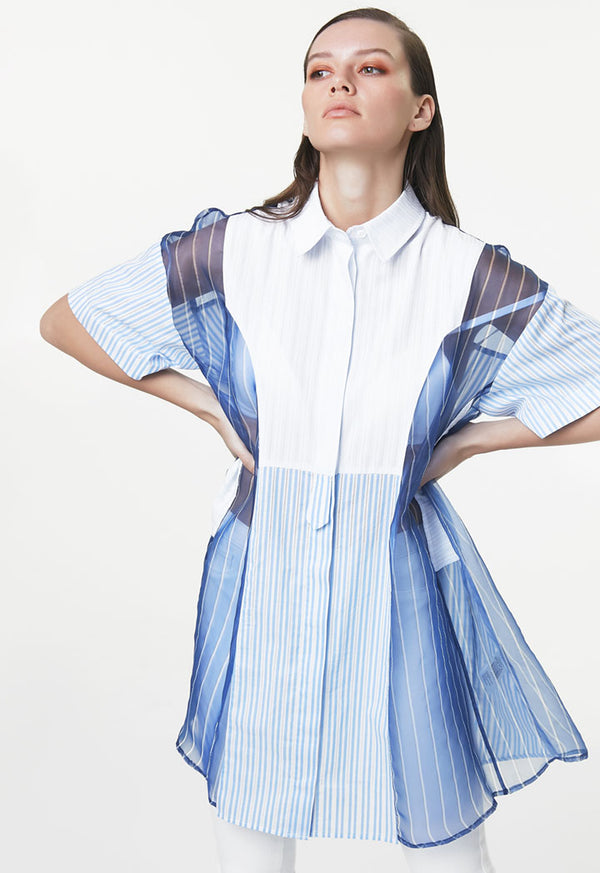 Ipekyol Blouse Stripe S/S White - Wardrobe Fashion