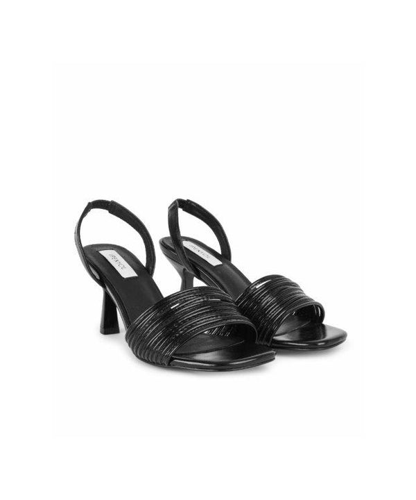 Ipekyol Sandal Stripe High-Heel Black - Wardrobe Fashion