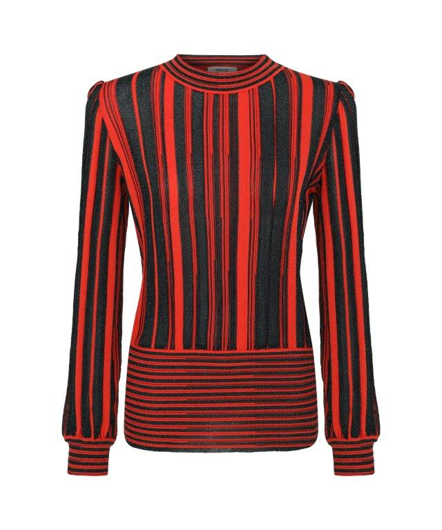 Ipekyol Sweater Stripe Print Red - Wardrobe Fashion