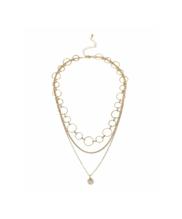 Ipekyol Necklace Mlt Chain W/Pe Gold - Wardrobe Fashion