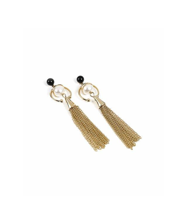 Ipekyol Earring Frill Gold - Wardrobe Fashion