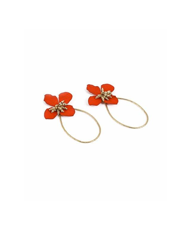 Ipekyol Earrings Flower Red - Wardrobe Fashion