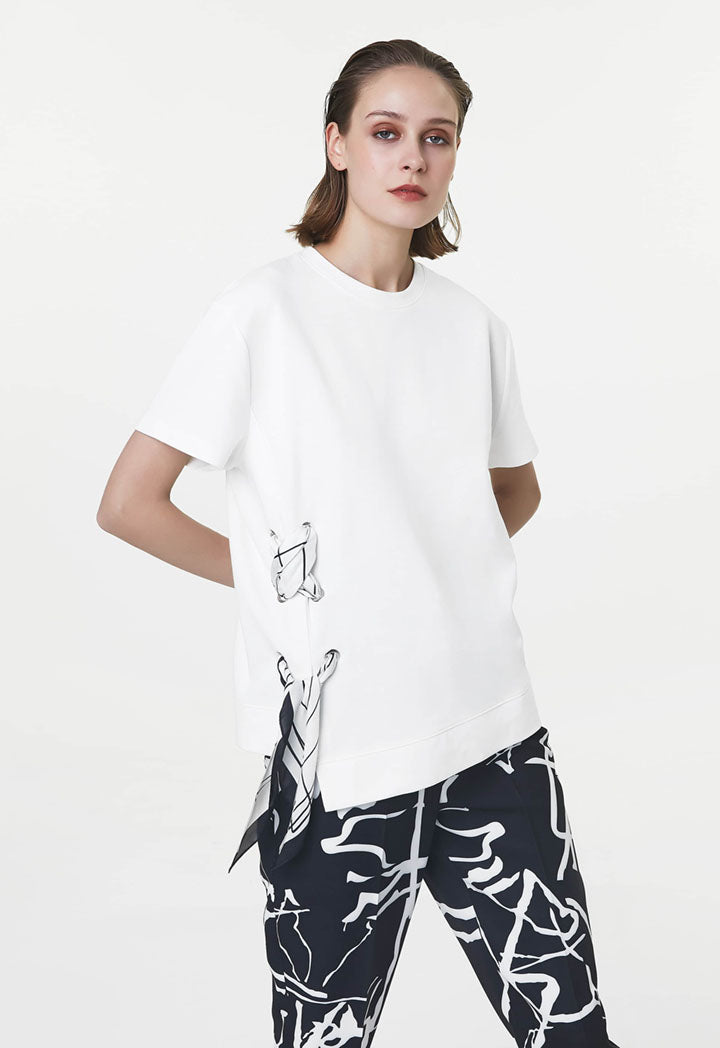 Ipekyol Sweatshirt Lace Edge Off White - Wardrobe Fashion