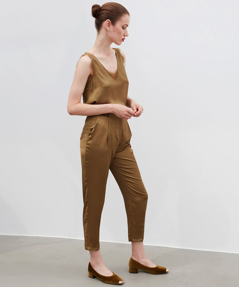 Ipekyol High Waist Comfortable Fit Trouser Brown