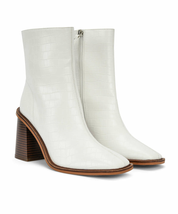 Ipekyol Synthetic Leather Square Cut Boots White
