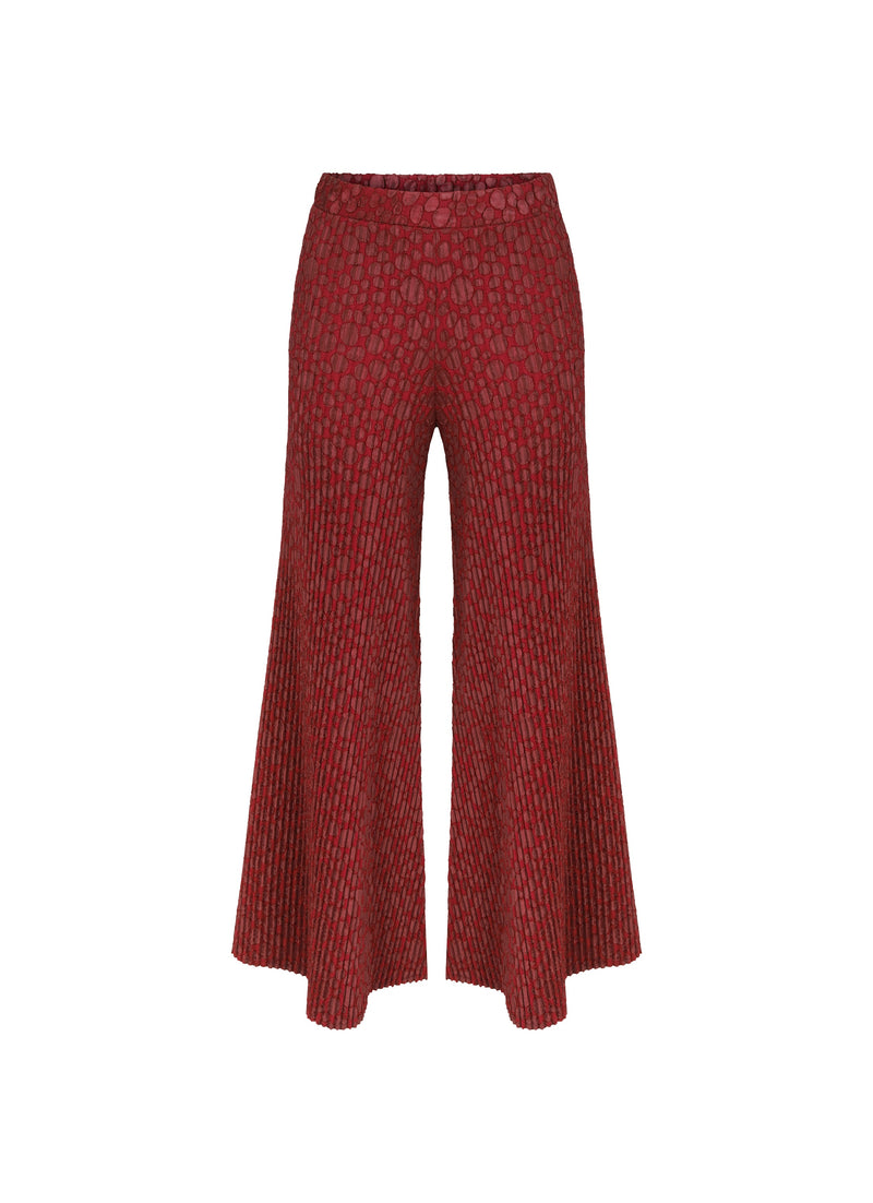 Nu High Waist Patch Detail Flare Trouser Burgundy