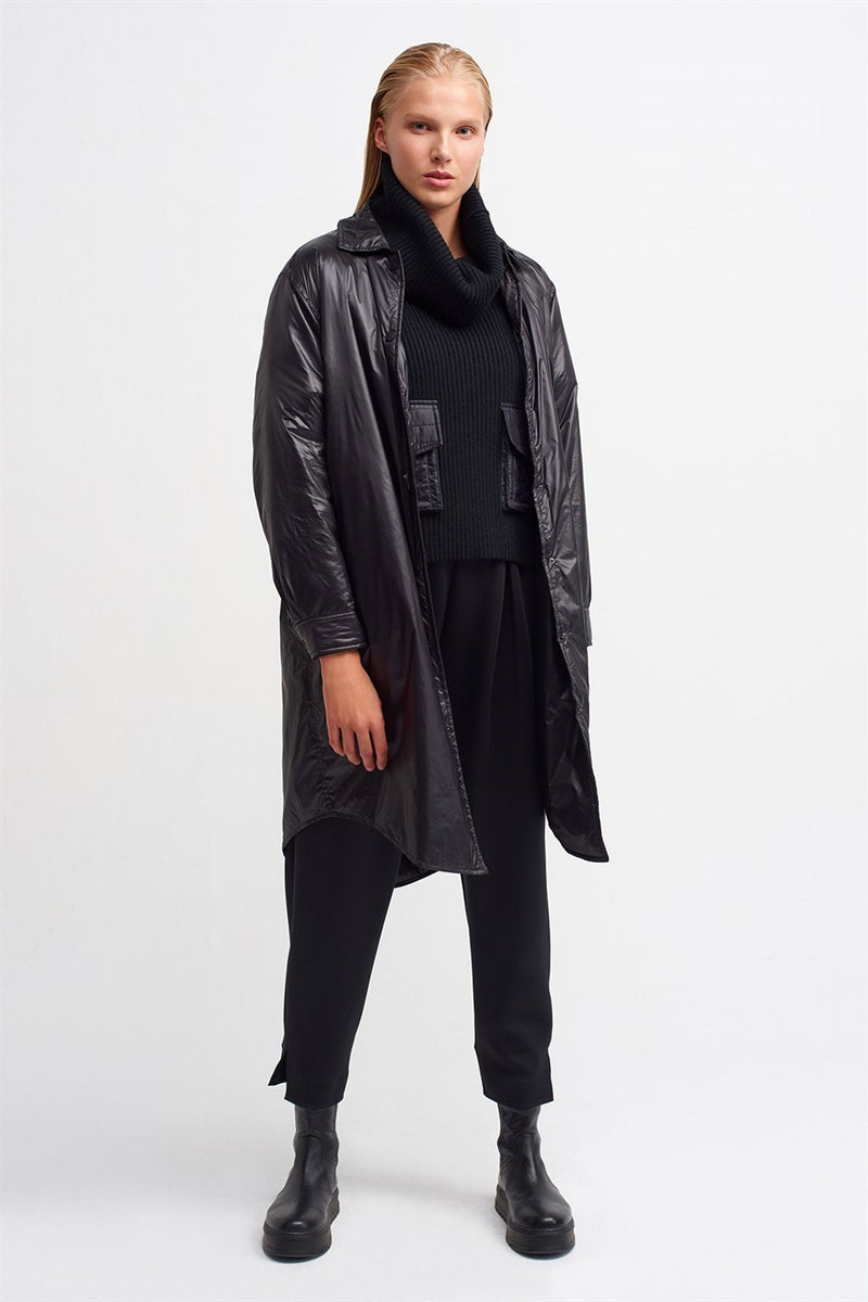 Nu Long Sleeve Coat Black