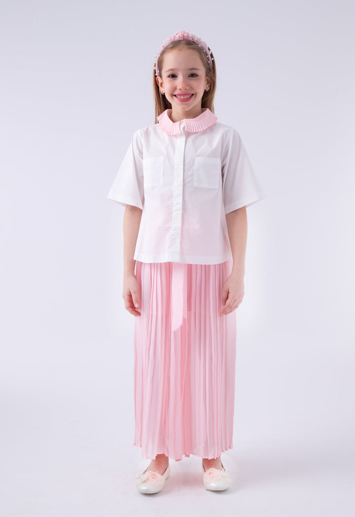 Miss Me Shirt And Culottes Set Pink