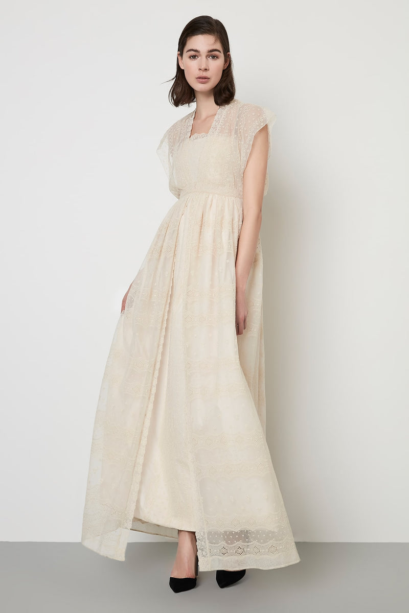 Machka Dress Long Full Lace Cream