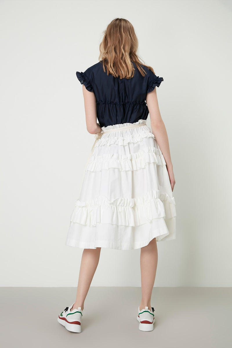Machka Skirt Long Layered White