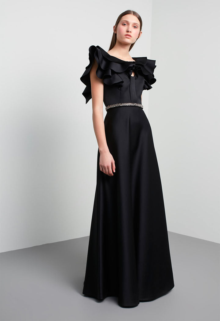 Machka Dress Emblished Black - Wardrobe Fashion