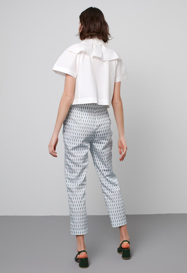 Machka Trouser 3D White - Wardrobe Fashion