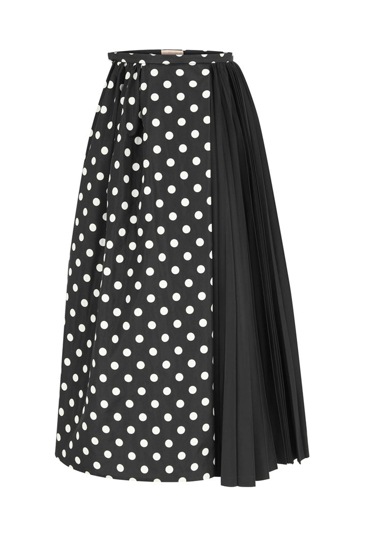 Machka Skirt 2Fab Pleat Black - Wardrobe Fashion