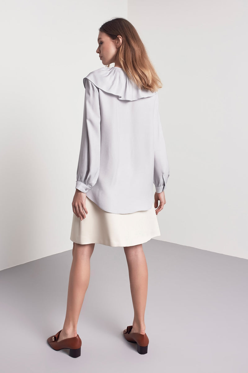 Machka Ruffle Detail Blouse Grey