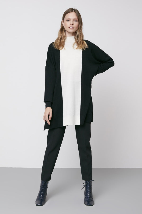 Machka Long Sleeve High Neck Sweater Black