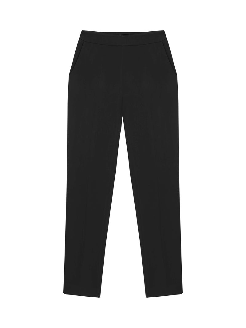 Machka High Waist Slim Fit Trouser Black