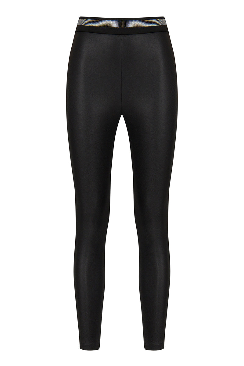 Nocturne High Waist Skinny Trouser Black