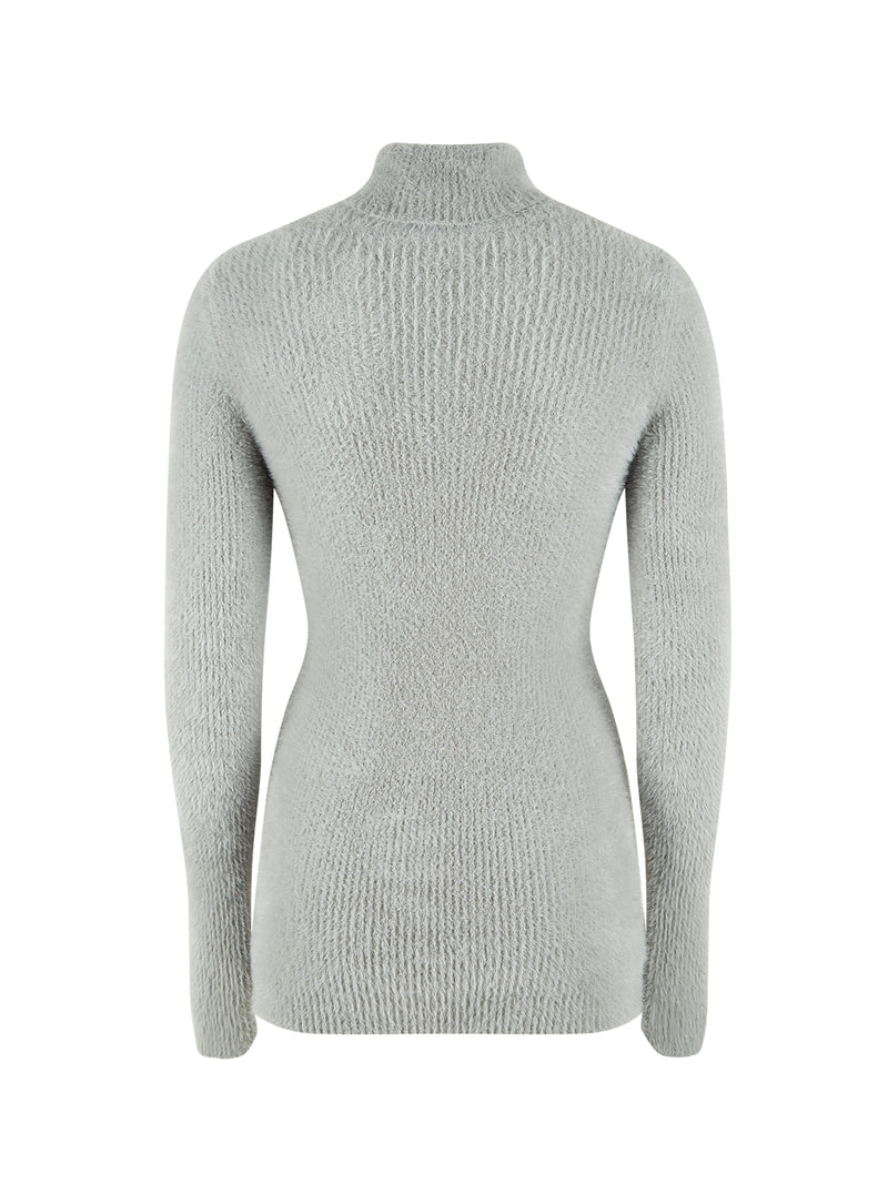 Nocturne Long Sleeve Turtle Neck Sweater Grey